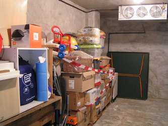 Stockage dans chambre froide